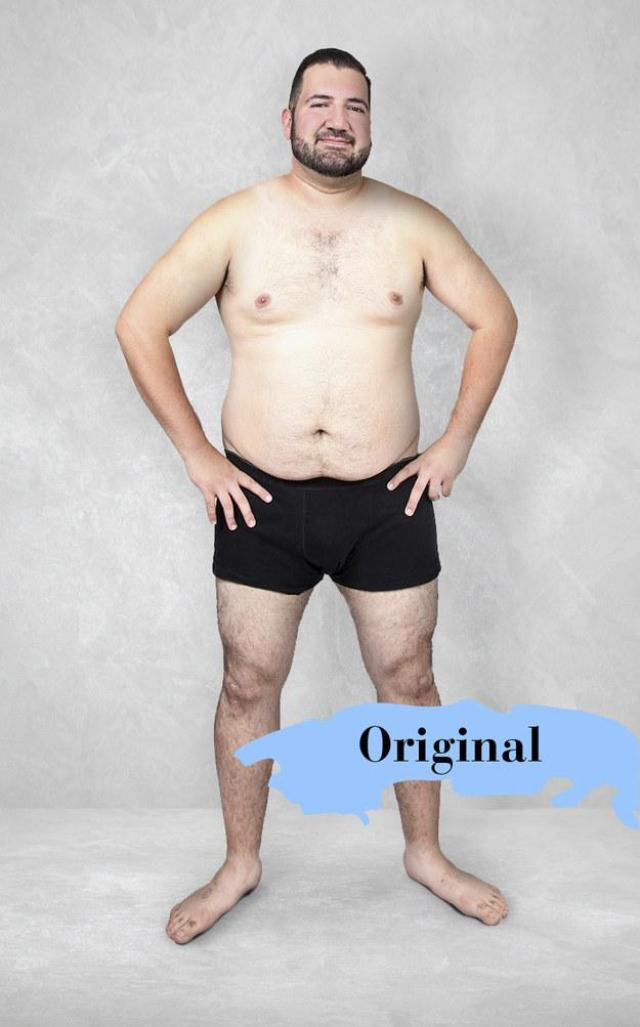 Originalna fotografija koju su dizajneri obradili po idelanim osobinama muškaraca u svojoj zemlji (foto: Superdrug.com)